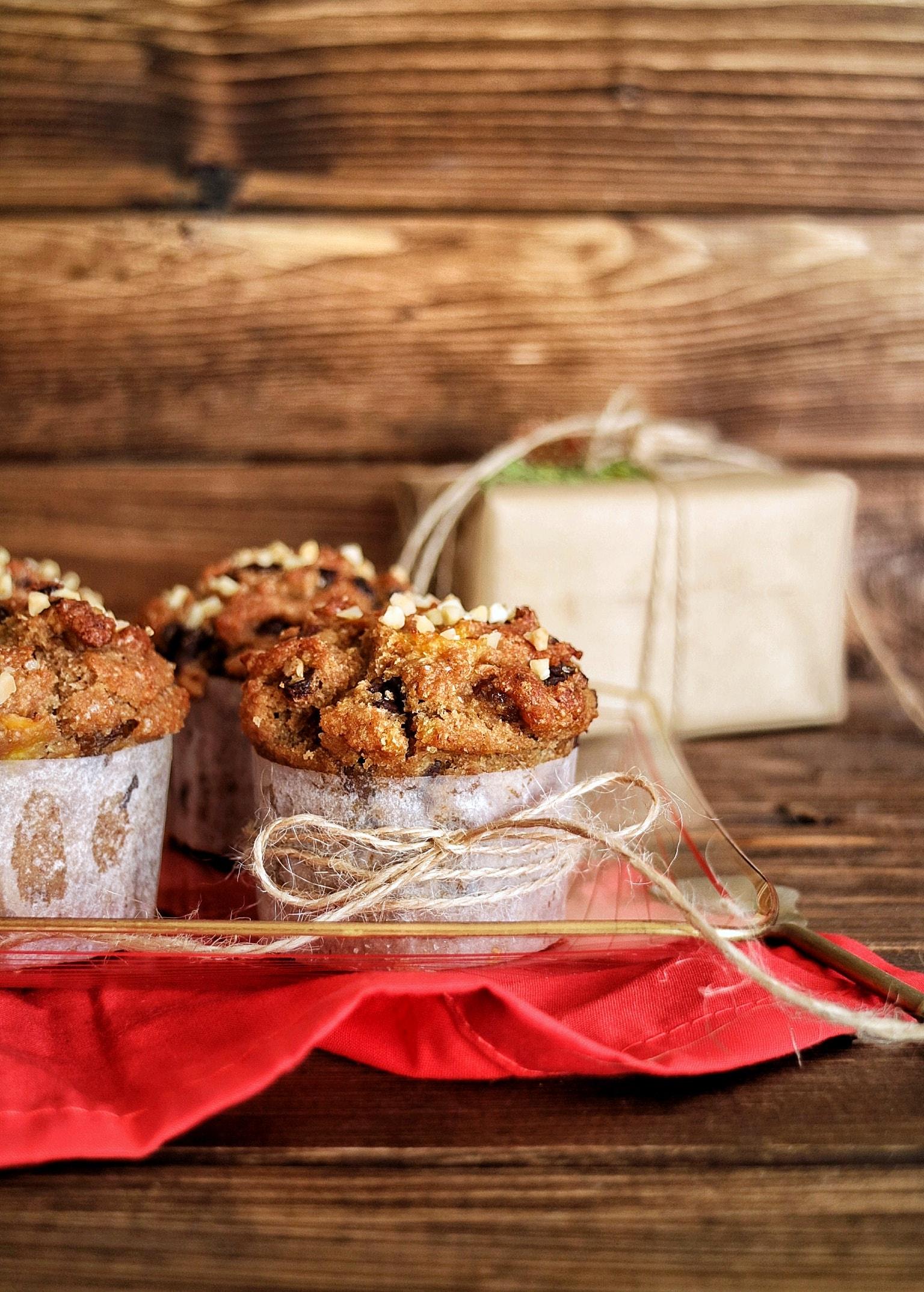 Ricetta dei muffin panettone vegan
