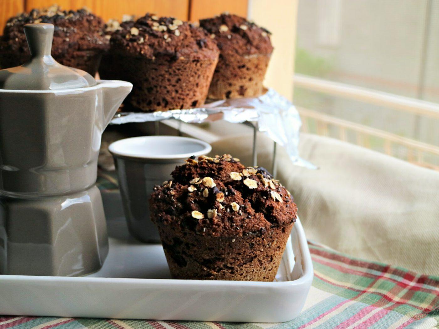 Come preparare i Turyffin: muffin integrali cacao e cocco