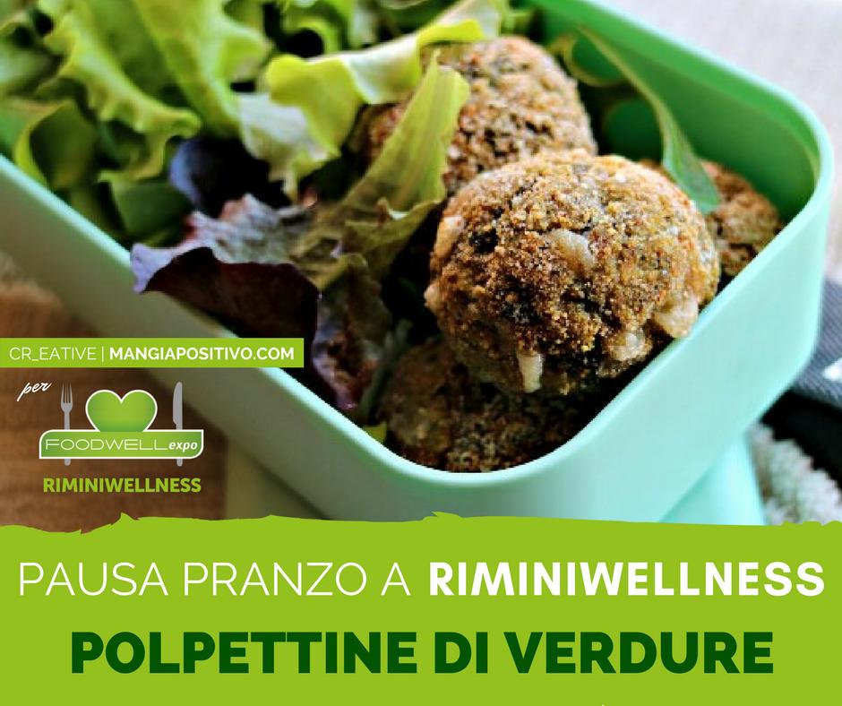 Come preparare le polpettine di verdure vegetariane per RiminiWellness
