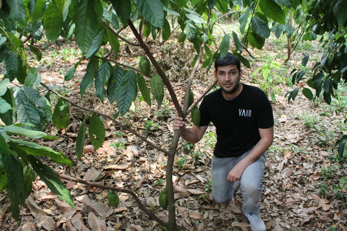 JuanRa,  founder di Vaicacao. Startup di cacao puro