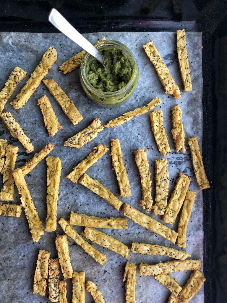 La ricetta degli stick di ceci e mais