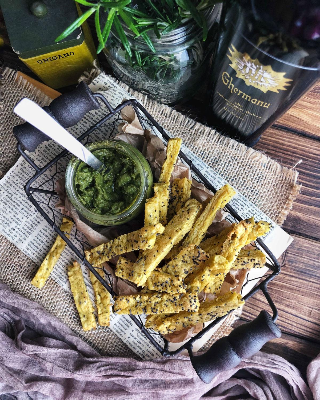 Chips di ceci con erbe aromatiche