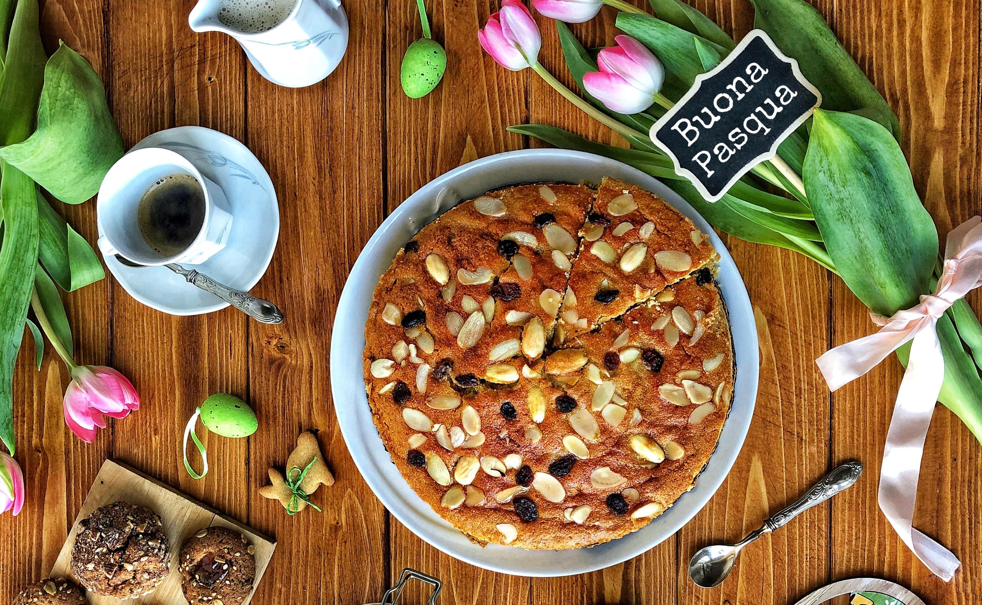 Ricette pasquali: la torta colomba di Pasqua integrale lighy