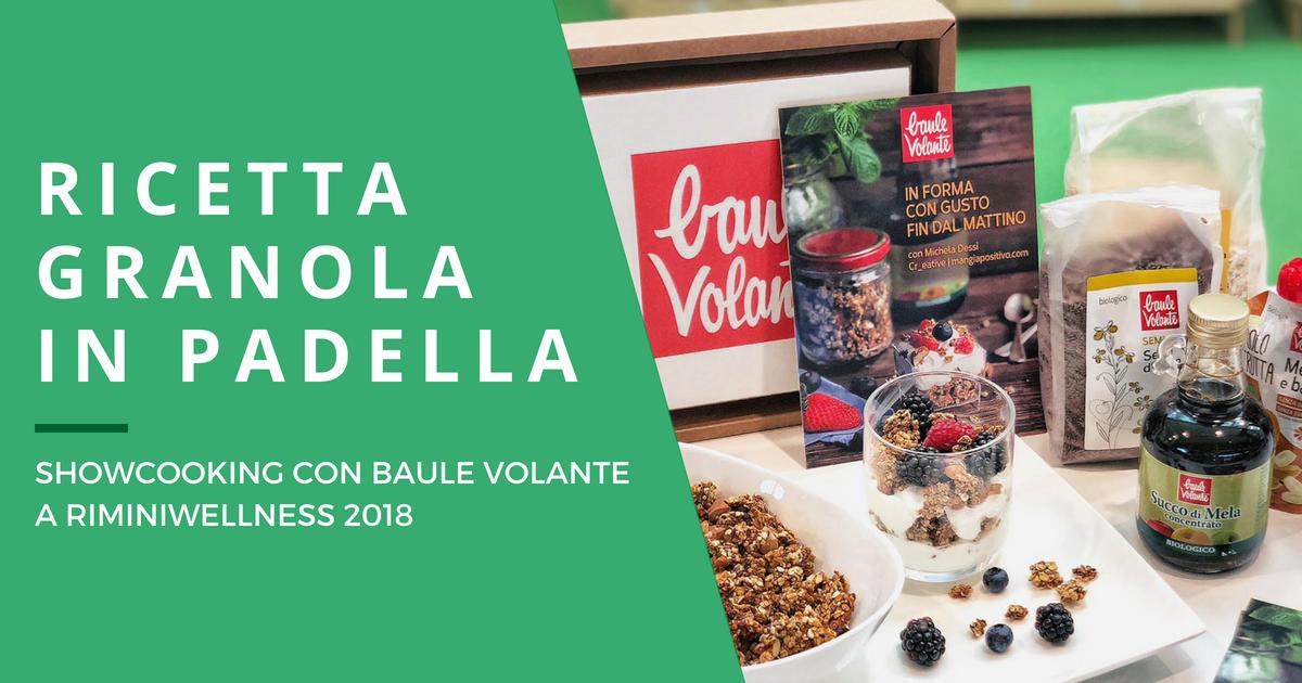 Granola in padella per lo showcooking di Baule Volante