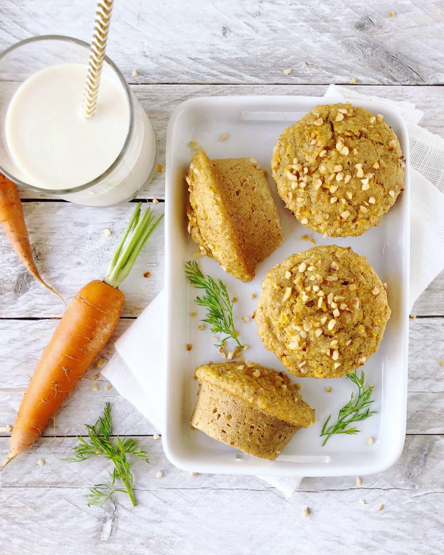 Dolci alle carote: muffin integrali vegan