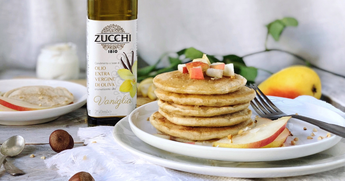 La ricetta dei pancake light allo yogurt greco sul sito di Zucchi 1810