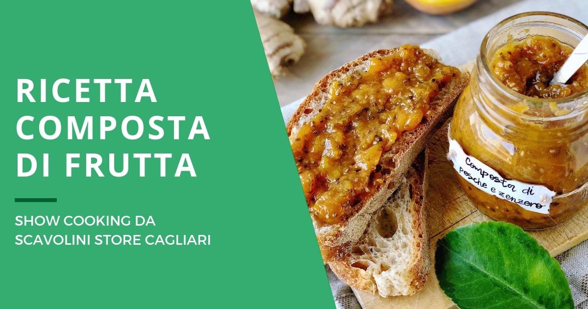 La ricetta della composta di frutta per lo showcooking da Scavolini Cagliari