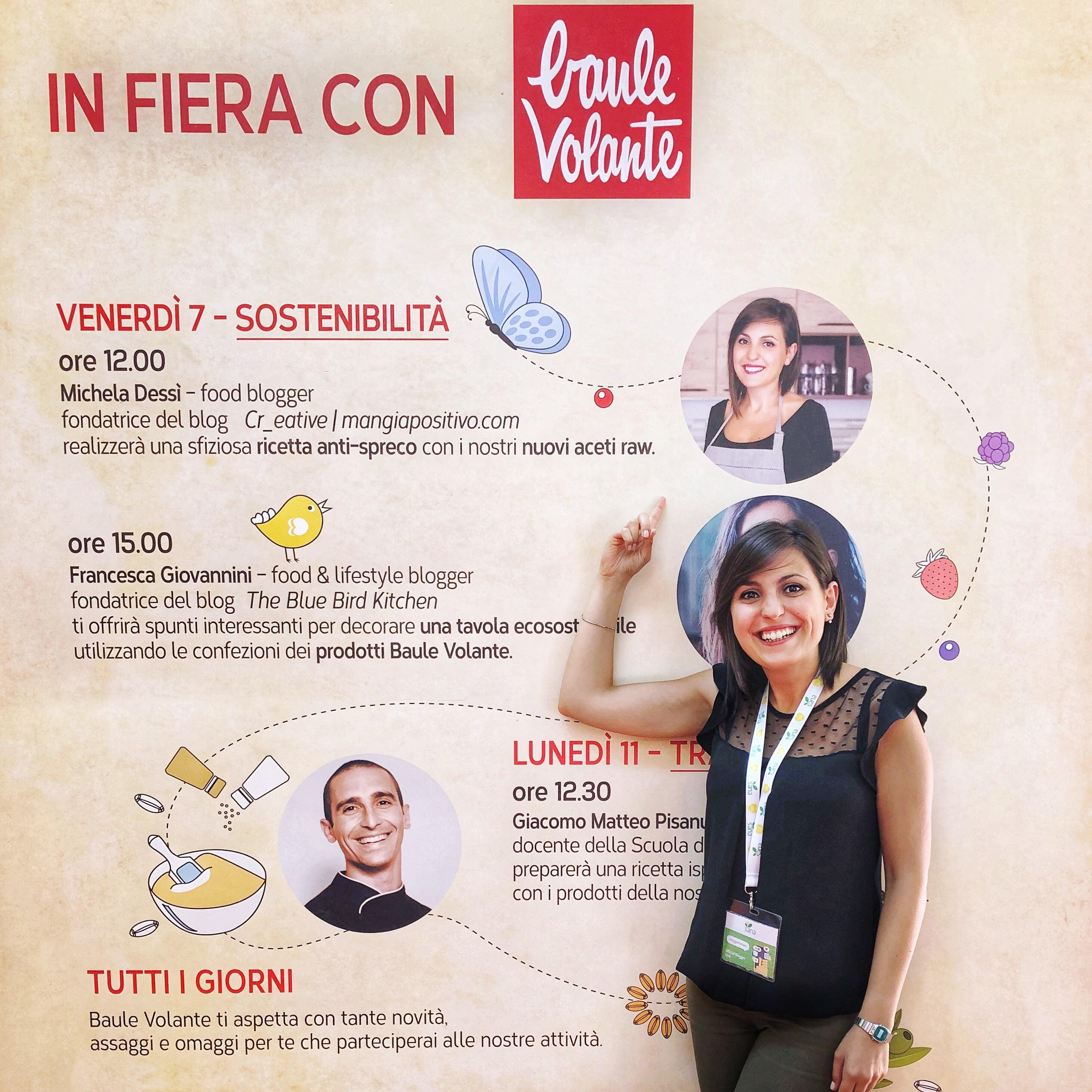 Sana fiera 2018: lo show cooking con Baule Volante