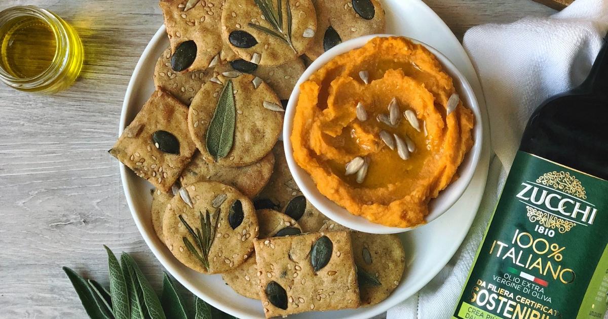 Crackers integrali con olio di oliva
