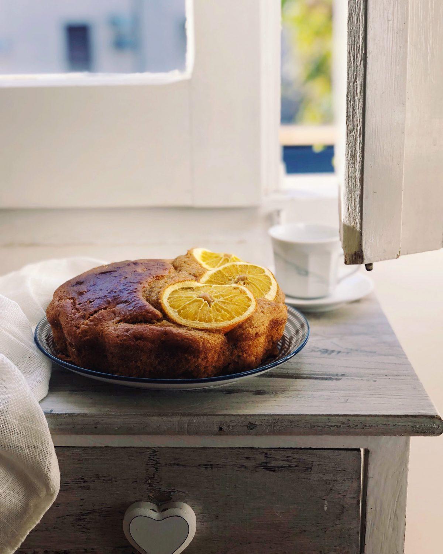 Torta all'arancia integrale senza burro