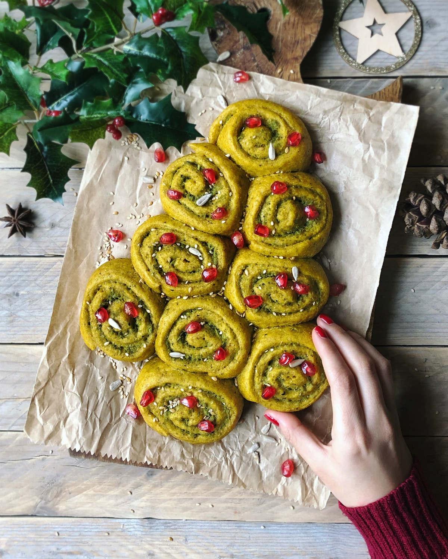 Idee per il pranzo di Natale: girelle salate di pan brioche