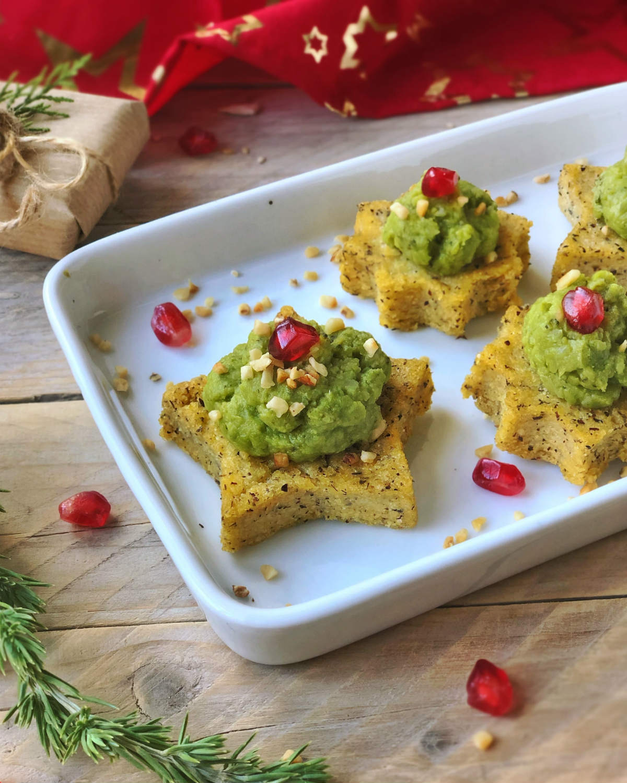 Antipasti Di Natale Vegani.Idee Antipasti Di Natale Vegan Crostini Di Polenta Al Forno Cr Eative