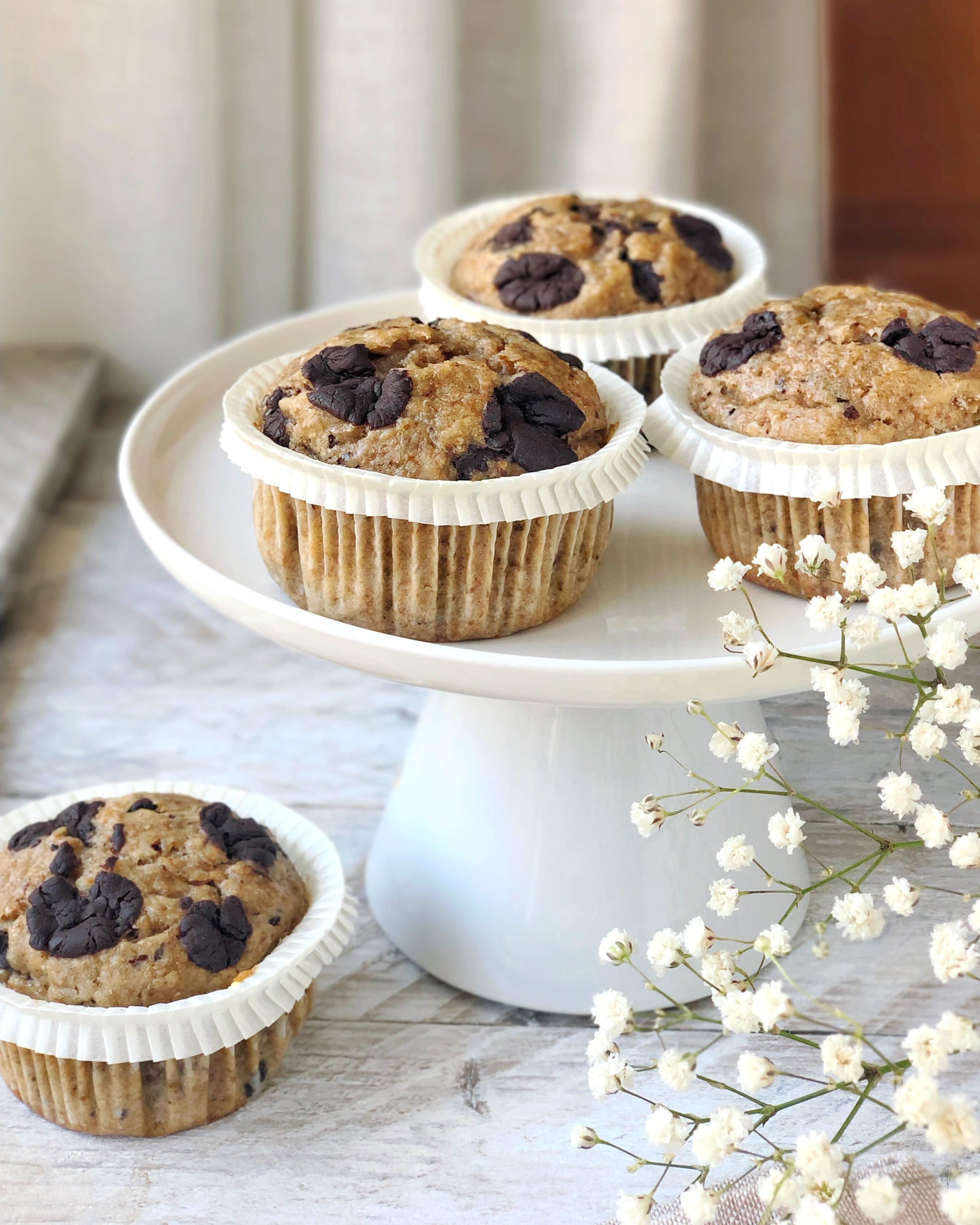 Come preparare i muffin banana e cioccolato