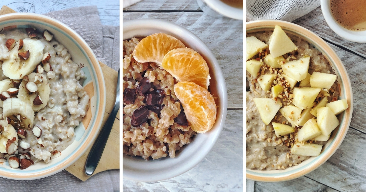 Porridge al microonde, light e overnight oats