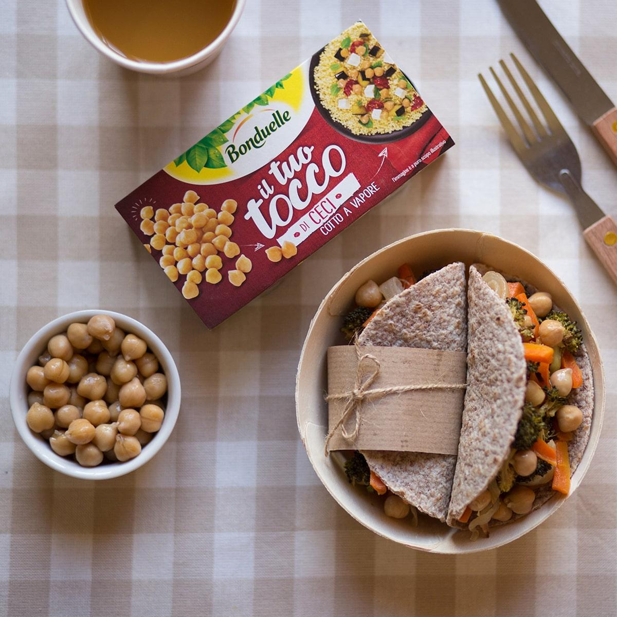 Idee pranzo al sacco mini piadine integrali