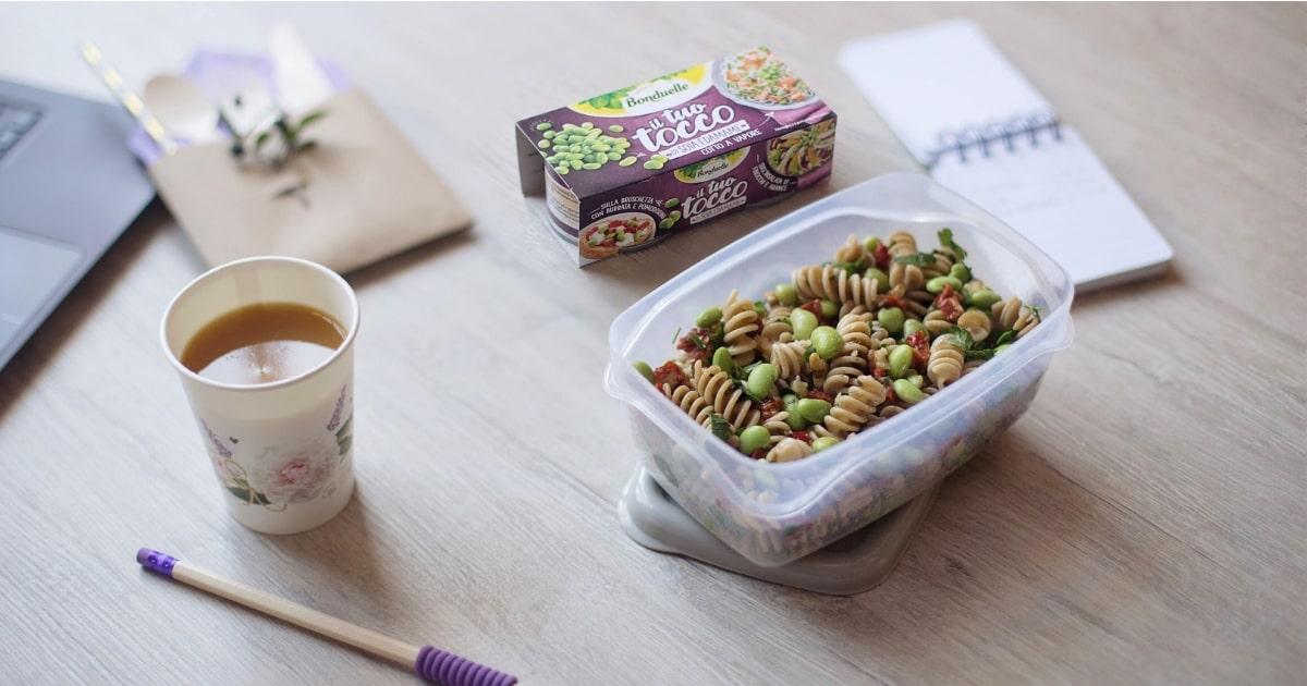 Ricette pranzo in ufficio: Insalata di pasta con il Tuo Tocco di Soia Edamame