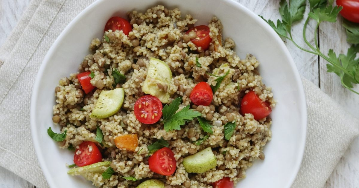 Cous cous di verdura e lenticchie