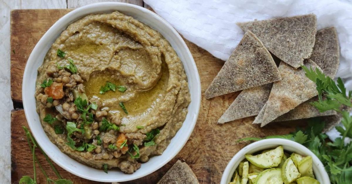 Hummus di lenticchie senza tahina