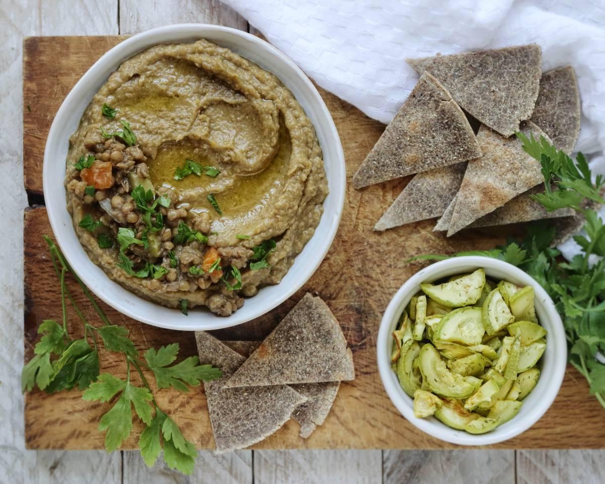 Ricette con lenticchie: hummus di lenticchie senza tahina