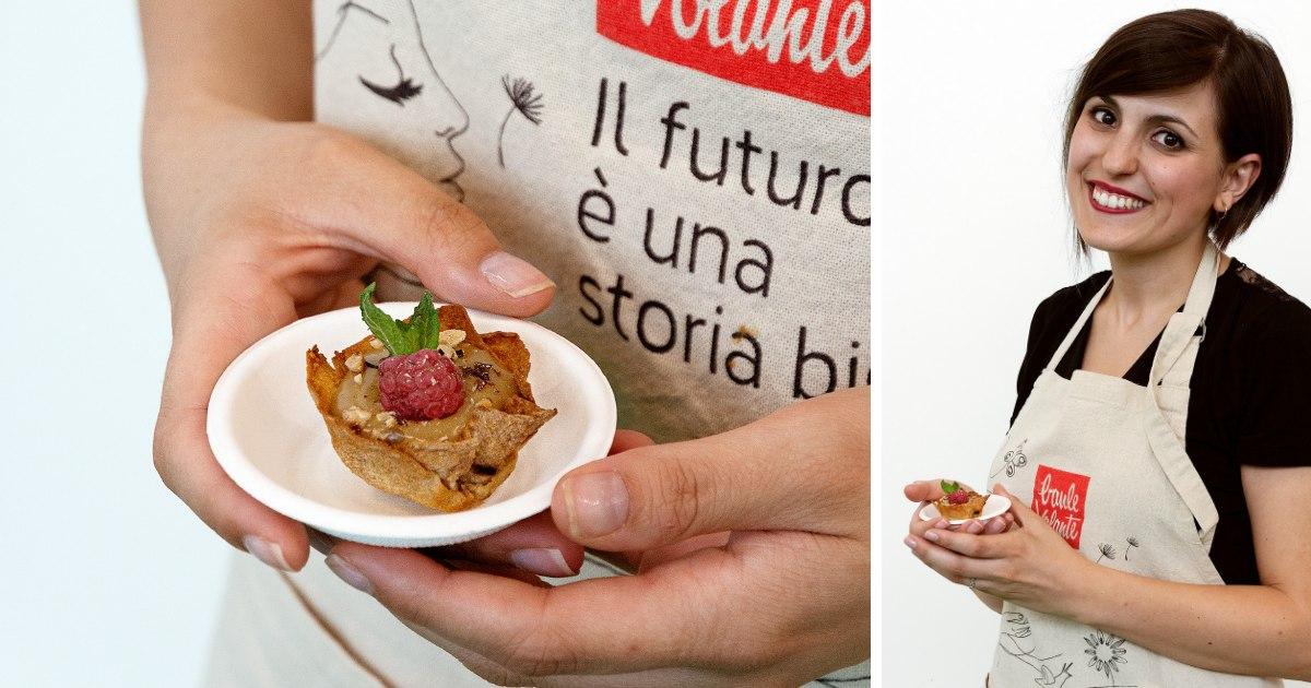 Pane carasau ricetta dolce: show cooking con baule volante al SANA 2019