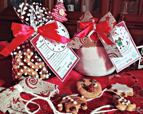 Biscotti di pasta frolla con olio e confezione regalo