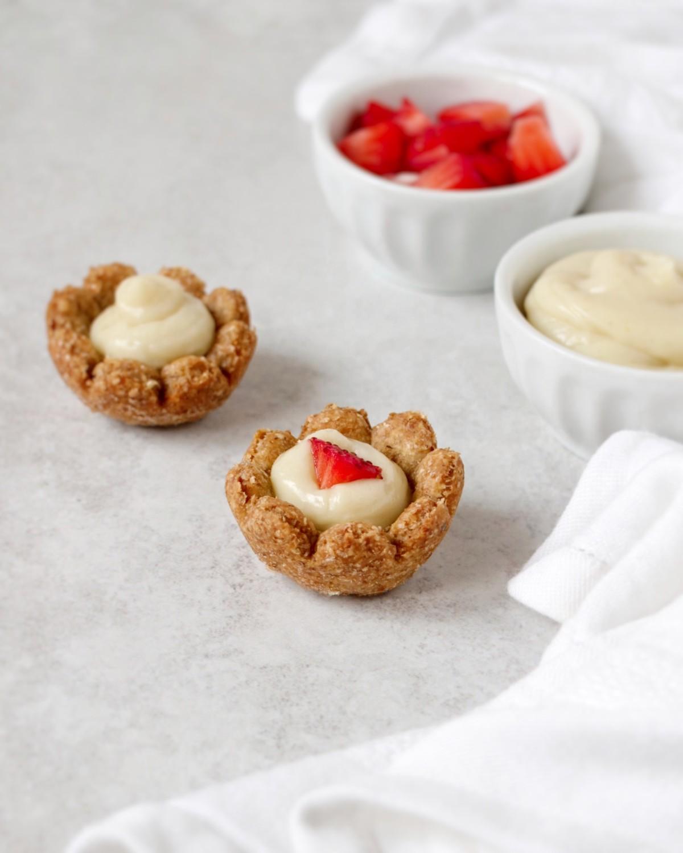 Crostatine di frutta e crema